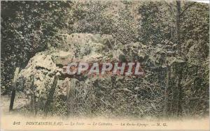 Ansichtskarte AK Fontainebleau La Foret le Calvaire La Roche Eponge