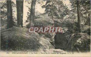 Ansichtskarte AK Fontainebleau La Foret Entree de la Caverne des Brigands