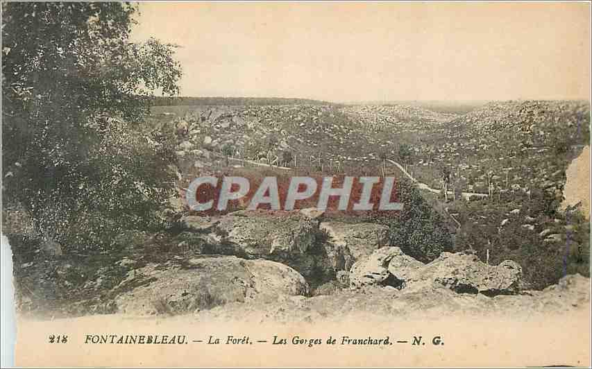 Ansichtskarte AK Fontainebleau La Foret les Gorges de Franchard 0