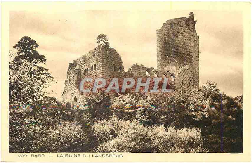 Ansichtskarte AK Barr La Ruine du Landsberg 0