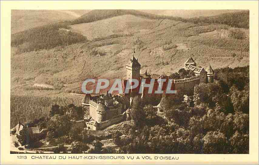 Ansichtskarte AK Chateau du Haut Koenigsbourg vu a vol d'Oiseau 0