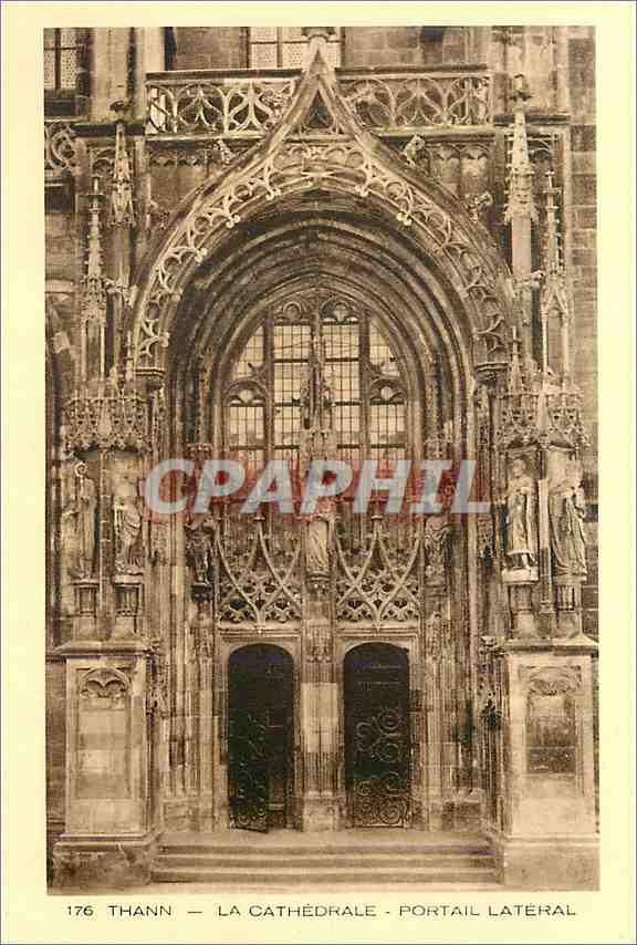 Ansichtskarte AK Thann La Cathedrale Portail Lateral 0