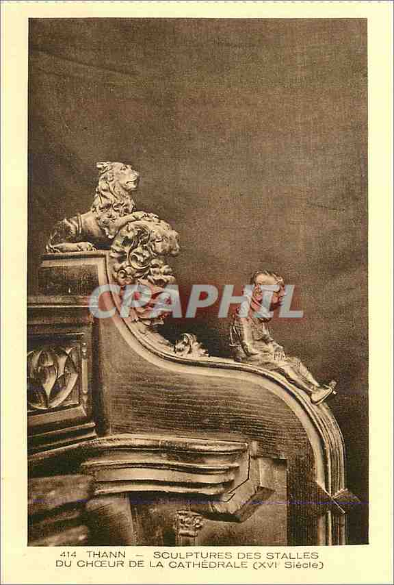 Ansichtskarte AK Thann Sculptures des Stalles du Choeur de la Cathedrale (XVI siecle) 0