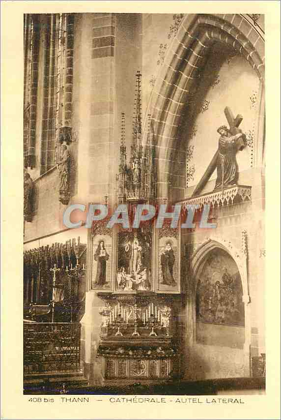 Ansichtskarte AK Thann Cathedrale Autel Lateral 0