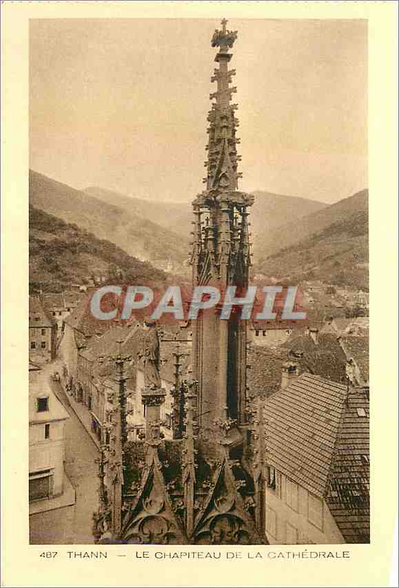 Ansichtskarte AK Thann Le Chapiteau de la Cathedrale 0