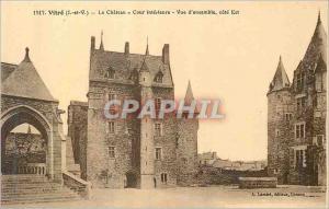 Ansichtskarte AK Vitre Le Chateau Cour Interieure Vue d'ensemble Cote Est