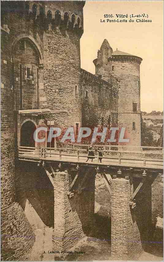 Ansichtskarte AK Vitre (I et V)Le Pont Levis du Chateau 0