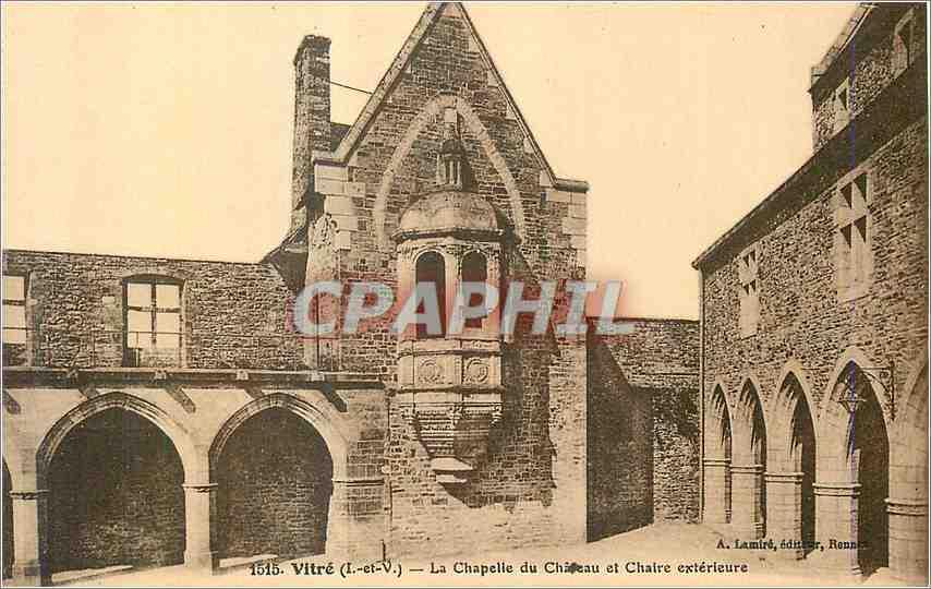 Ansichtskarte AK Vitre (I et V)La Chapelle du Chateau et Chaire exterieure 0