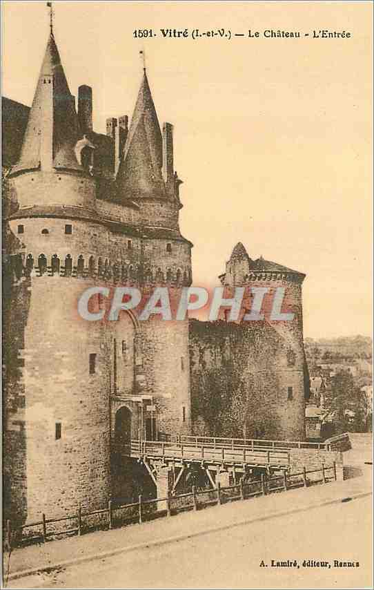 Ansichtskarte AK Vitre (I et V)Le Chateau L'entree 0