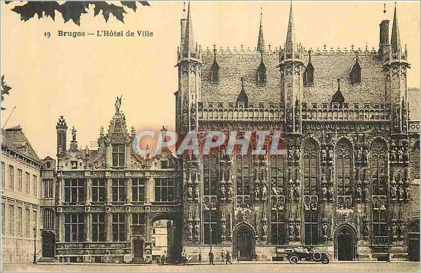 Ansichtskarte AK Bruges L'hotel de Ville 0
