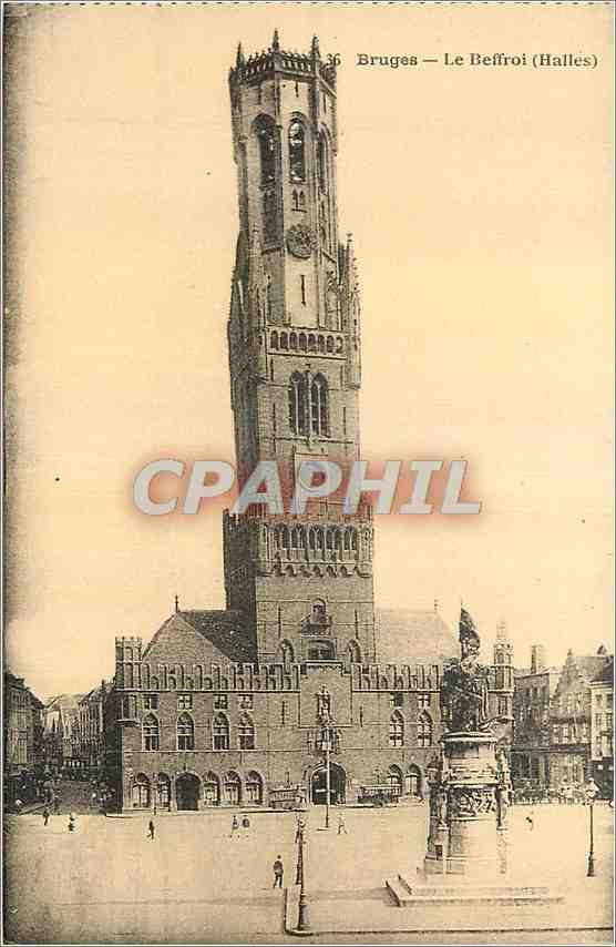 Ansichtskarte AK Bruges Le Beffroi (Halles) 0