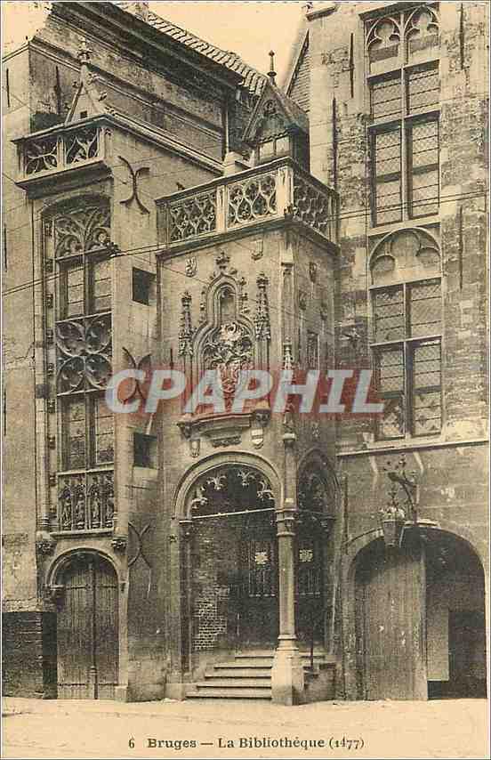 Ansichtskarte AK Bruges La Bibliotheque (1477) 0