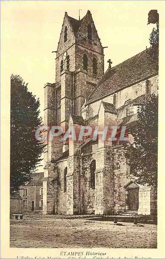 Ansichtskarte AK Etampes Historique Eglise Saint Martin (XII siecle) 0