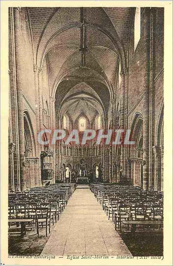 Ansichtskarte AK Etampes Historique Eglise Saint Martin Interieur (XII siecle) 0