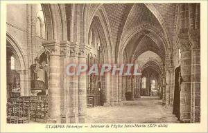 Ansichtskarte AK Etampes Historique Interieur de l'Eglise Saint Martin (XII siecle)