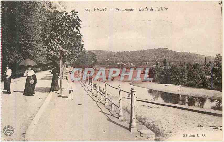Ansichtskarte AK Vichy Promenade Bords de l Allier 0