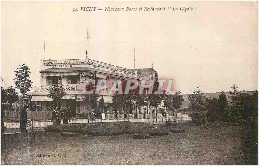 Ansichtskarte AK Vichy Nouveaux Parcs et Restaurant La Cigale 0