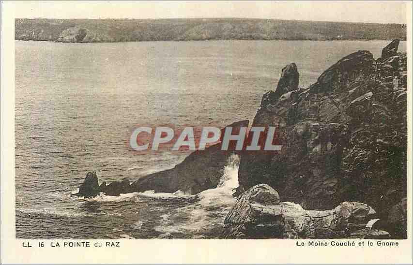 Ansichtskarte AK La Pointe du Raz La Moine Couche et le Gnome 0