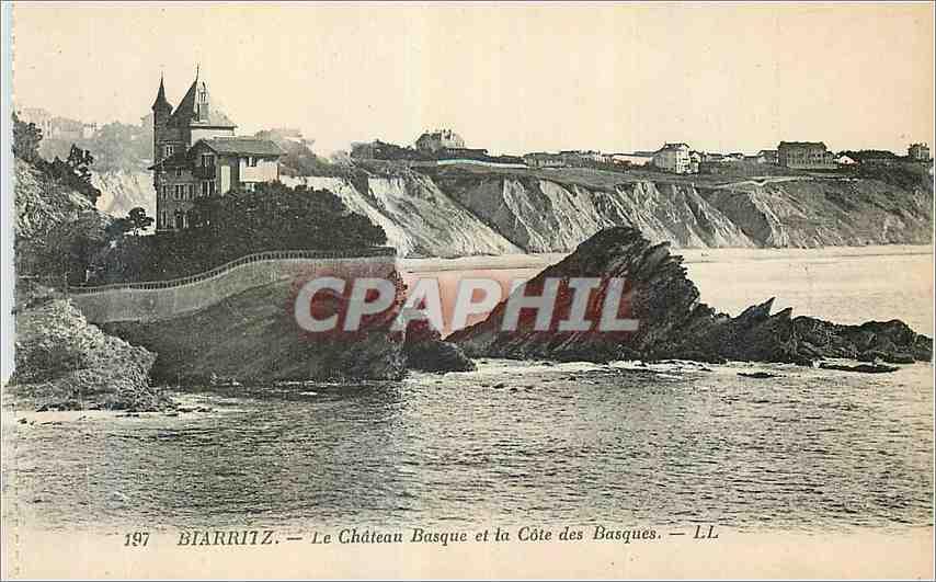 Ansichtskarte AK Biarritz Le Chateau Basque et la Cote des Basques 0