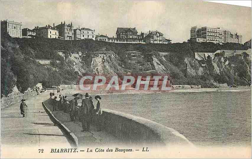 Ansichtskarte AK Biarritz La Cote des Basques 0