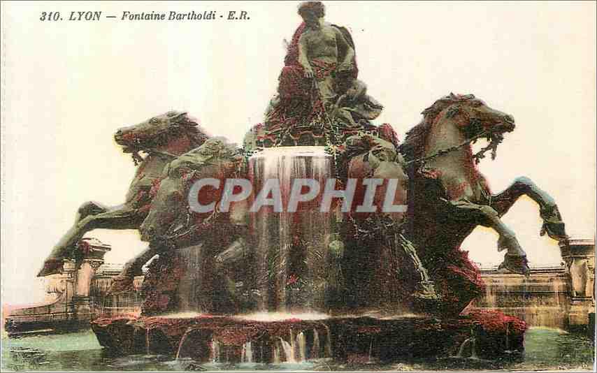 Ansichtskarte AK Lyon Fontaine Bartholdi 0