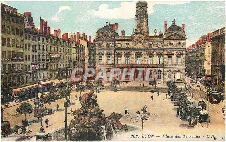Ansichtskarte AK Lyon Place des Terreaux 0