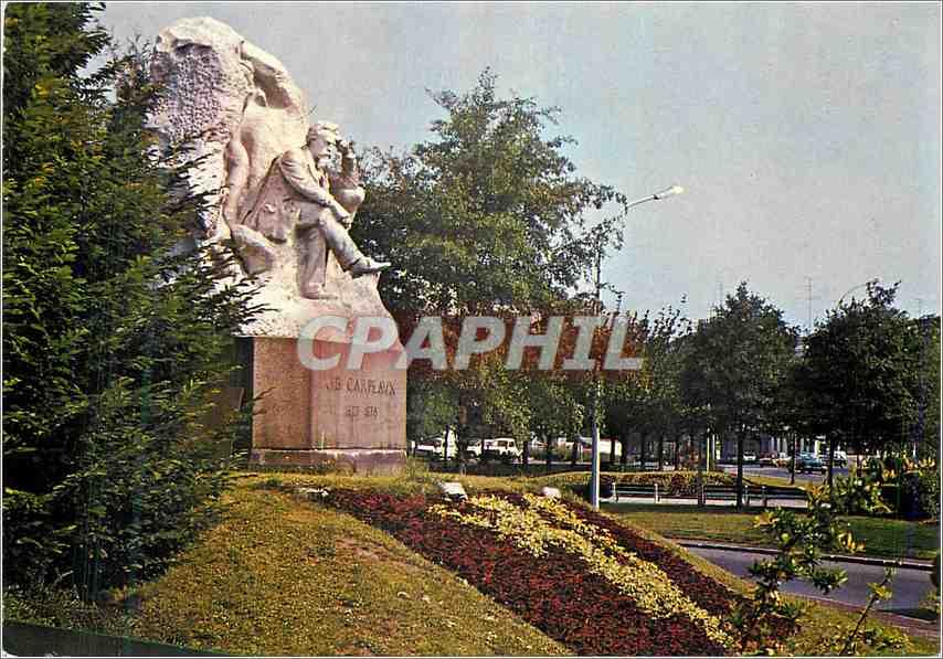 Moderne Karte Valenciennes Le monument Carpeaux 0