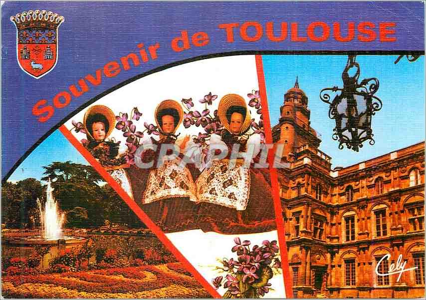Moderne Karte Toulouse Le jardin de Grand Rond Poupees 0