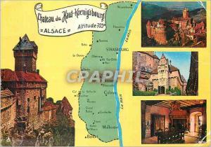 Moderne Karte Chateau du Haut Koenigsbourg Alsace