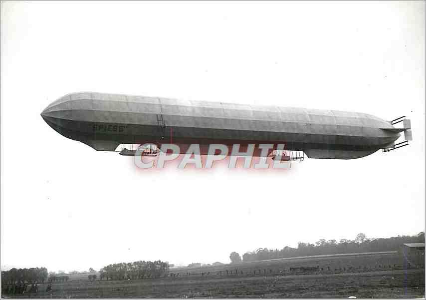 Moderne Karte La Belle Epoque Le Spiess en vol Zeppelin Dirigeable Aviation 0
