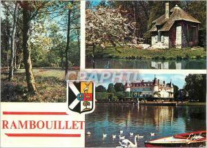 Moderne Karte Rambouillet Yvelines Le Parc Le Pavillon des coquillages Vue sur le chateau