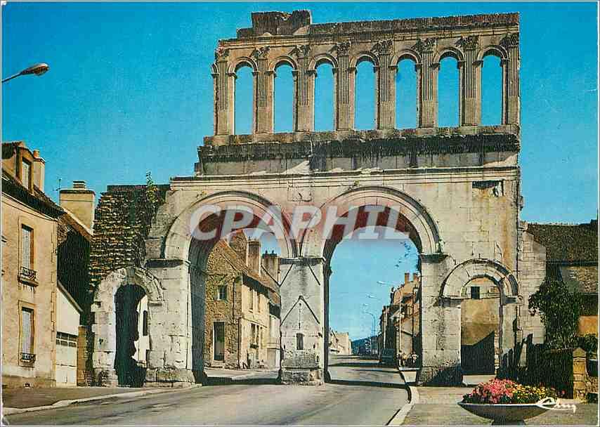 Moderne Karte Autun S et L Porte romaine dite d Arroux 0