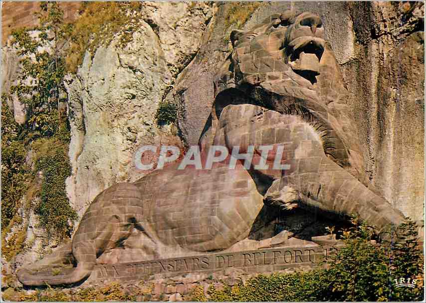 Moderne Karte Belfort Terr de Belfort Le Lion 0