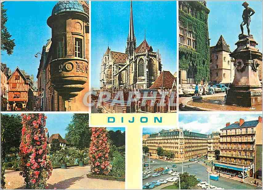 Moderne Karte Dijon Cote d Or L Echauguette et rue Verrerie 0