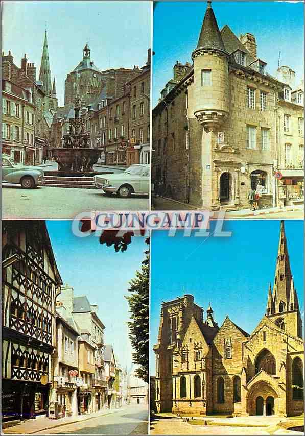 Moderne Karte Guingamp Cotes du Nord La Plombee fontaine de la Renaissance 0