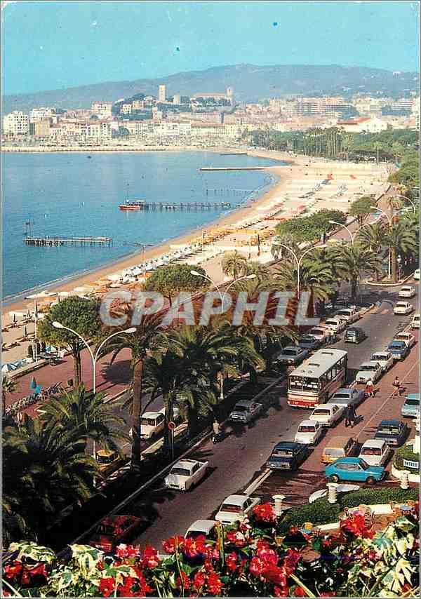 Moderne Karte Cannes La Croisette et le Suquet 0