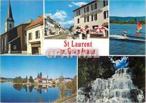 Moderne Karte St Laurent en Grandvaux Jura L Eglise Le village de St Laurent Ski nautique