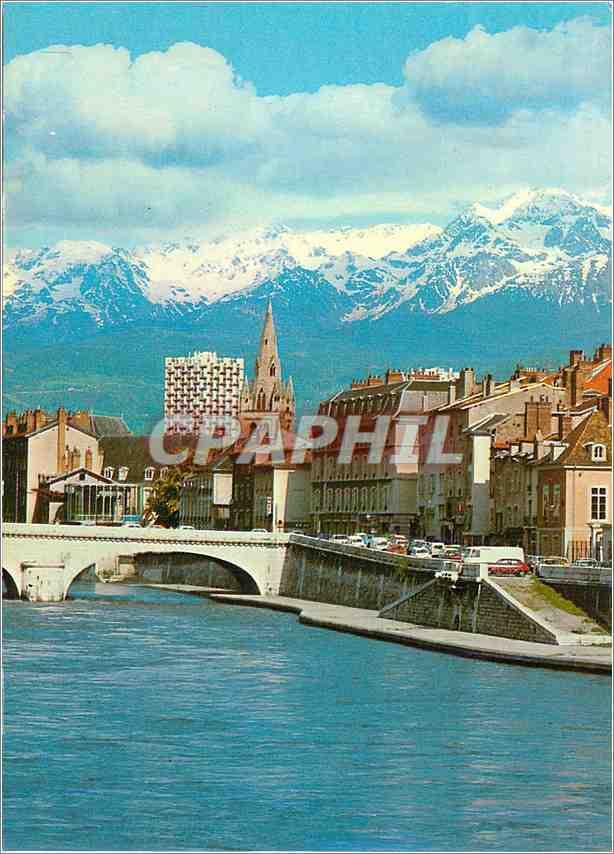 Moderne Karte Grenoble L Isere Le Pont Marius Gontard L Eglise St Andre et Belledonne 0