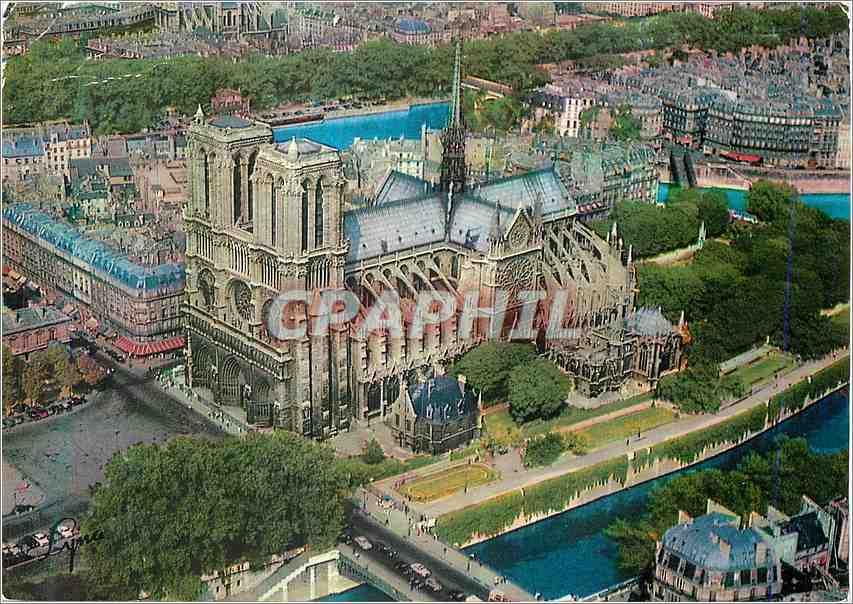 Moderne Karte Paris Notre Dame Cathedral 0