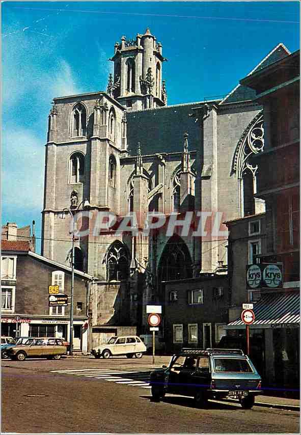 Moderne Karte Toul Eglise St Gengoult 0