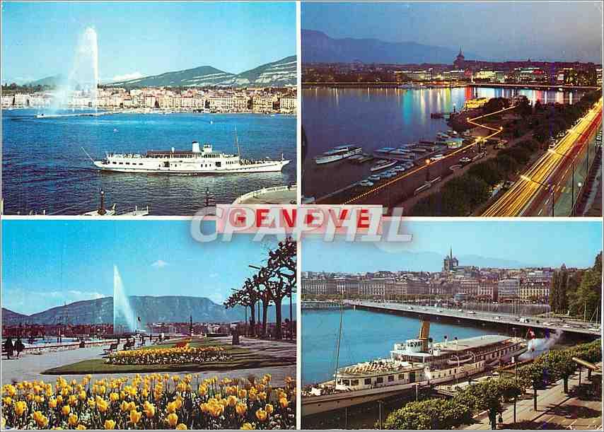 Moderne Karte Souvenir de Geneve 0