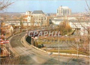 Moderne Karte Beauvais Oise L eglise St Etienne et la Cathedrale St Pierre