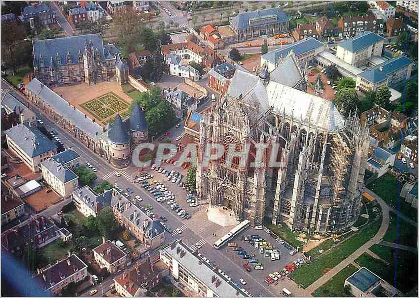 Moderne Karte Beauvais Oise La Cathedrale Saint Pierre et son palais episcopal 0