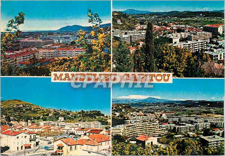 Moderne Karte Mandelieu Capitou Alpes Maritimes 0