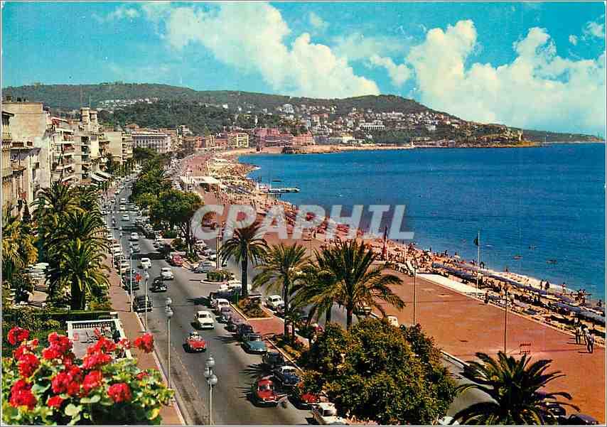 Moderne Karte La Cote d Azur Nice La Promenade des Anglais 0