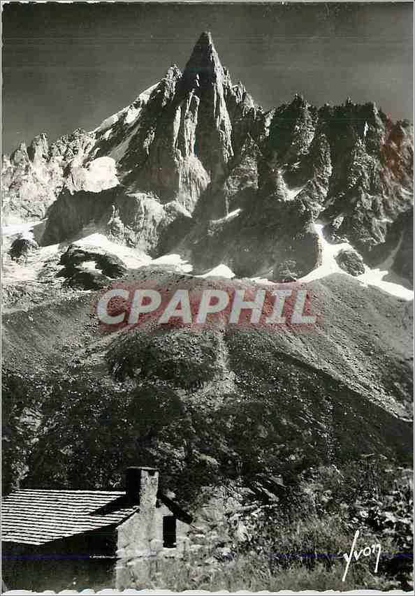 Moderne Karte Chamonix Hte Savoie L aiguille du Dru 0
