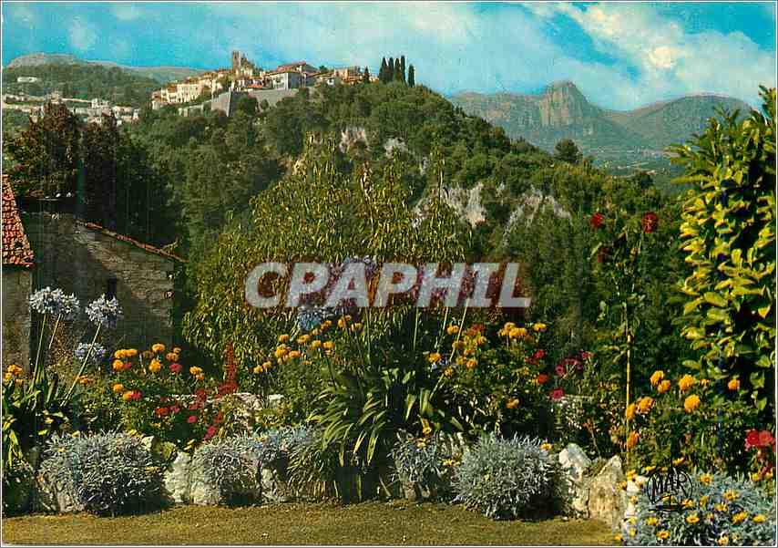 Moderne Karte La Cote d Azur Saint Paul de Vence Vue generale 0