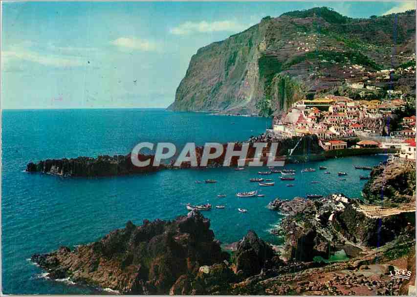 Moderne Karte Cabo Girao Madeira Worlds second highest sea cliff 0