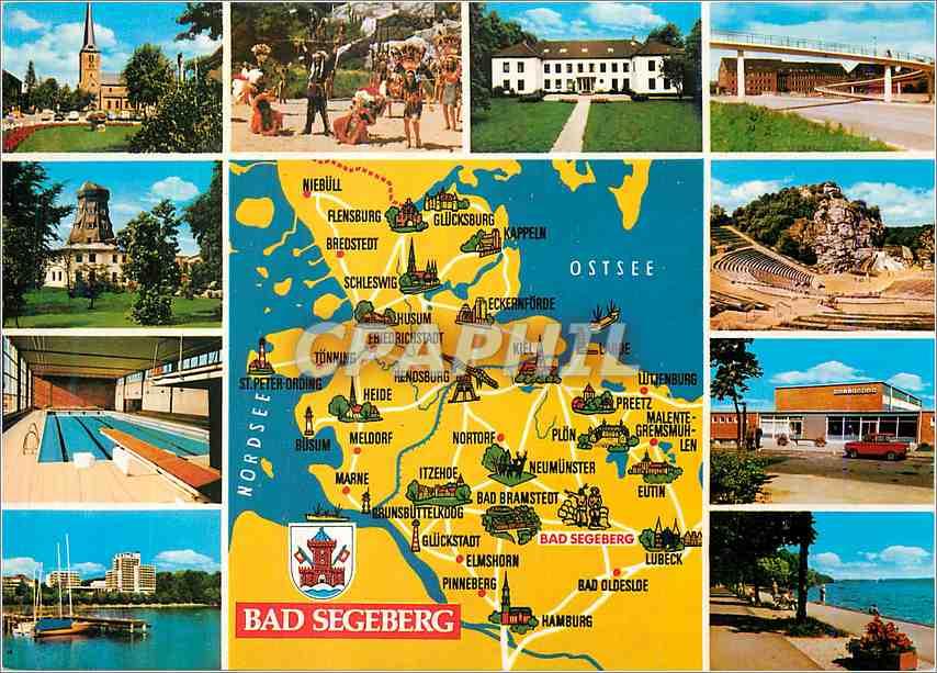 Moderne Karte Bad Segeberg 0
