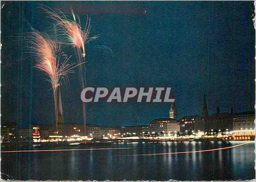 Ansichtskarte AK Hamburg Feuerwerk auf der Binnenalster 0